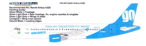 1/144 Scale Decal GoAir A-320
