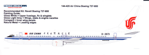 1/144  Scale Decal Air China 737-800
