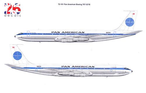 1/72 Scale Decal Pan American Boeing 707-321B