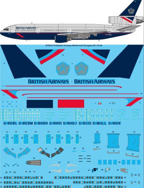 1/144  Scale Decal British Airways DC10-30