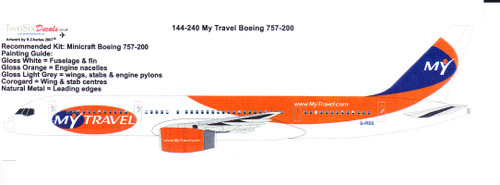 1/144  Scale Decal My Travel 757-200