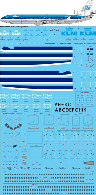 1/144  Scale Decal KLM Delivery McDonnell Douglas MD-11