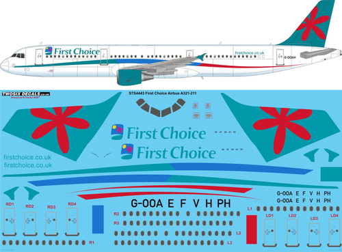 1/144  Scale Decal First Choice A321-211