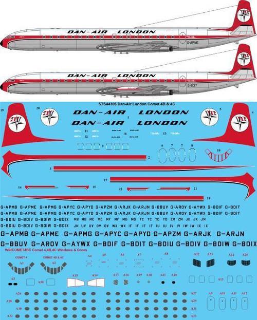 1/144  Scale Decal Dan-Air London De Havilland Comet 4B & 4C