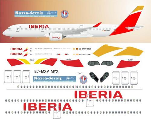 1/144 Scale Decal Iberia A350-900