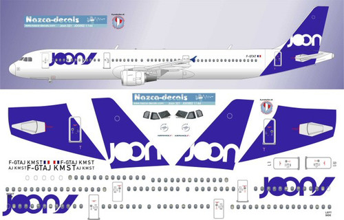 1/200 Scale Decal JOON A-321