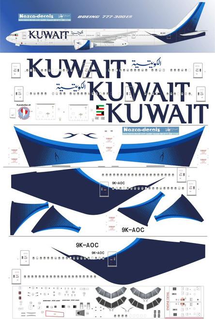 1/144 Scale Decal Kuwait 777-300ER