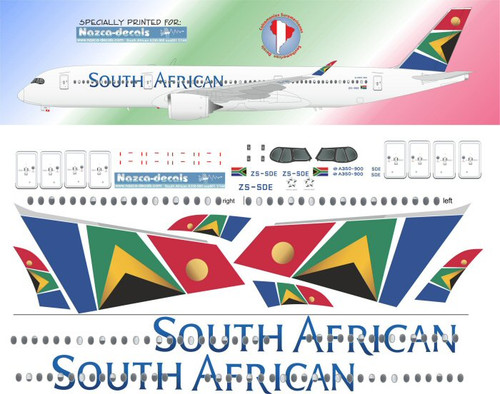 1/144  Scale Decal South African Airways A350-900