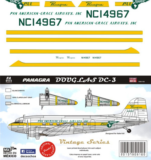 1/72 Scale Decal Panagra DC-3 / C-47