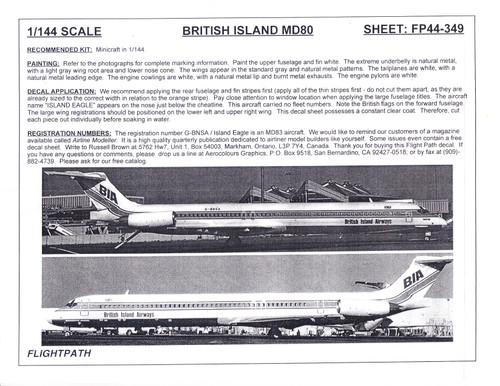1/144 Scale Decal British Island Airways MD-80