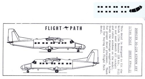 1/144 Scale Decal Dornier DO-228 Window Set