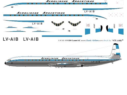 1/144 Scale Decal Aerolineas Argentinas Comet 4C
