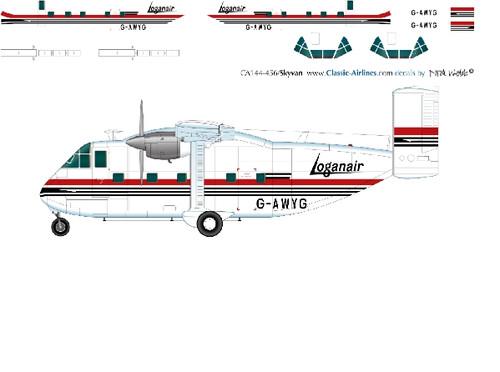 1/144 Scale Decal Loganair Skyvan