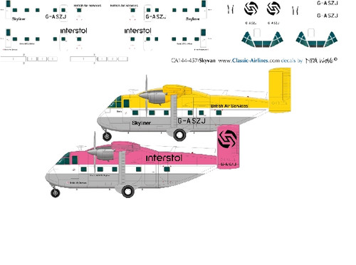 1/144 Scale Decal Interstal Skyvans