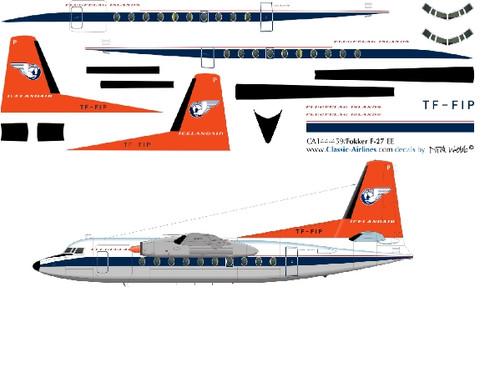 1/144 Scale Decal Islandair F-27 ORANGE