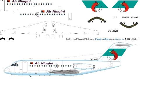 1/144 Scale Decal Air Niugini F-28