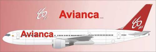 1/144 Scale Decal Avianca B767-200 / 300  85th ANNIVERSARY