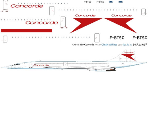 1/144 Scale Decal Concorde Film Special