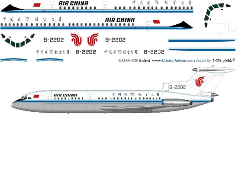 1/144 Scale Decal Air China Trident 2