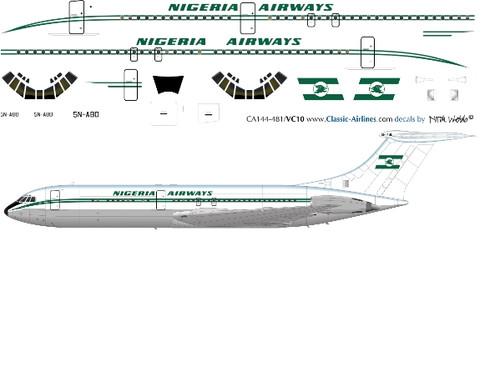 1/144 Scale Decal Air Nigeria VC-10