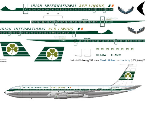 1/144 Scale Decal Aer Lingus 707