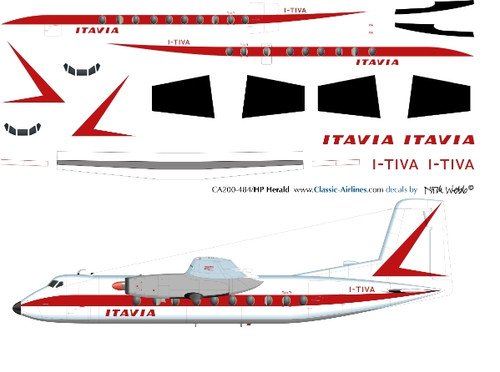 1/144 Scale Decal Itavia Herald