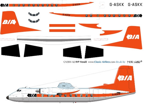 1/144 Scale Decal BIA Herald DELIVERY