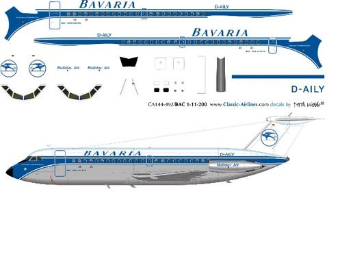 1/144 Scale Decal Bavaria BAC-111