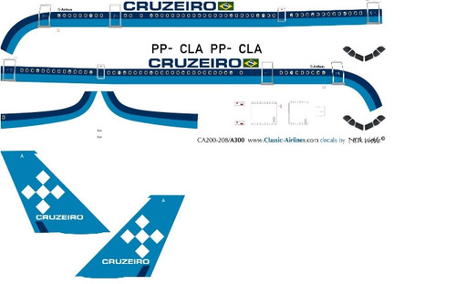 1/200 Scale Decal Cruzeiro A-300