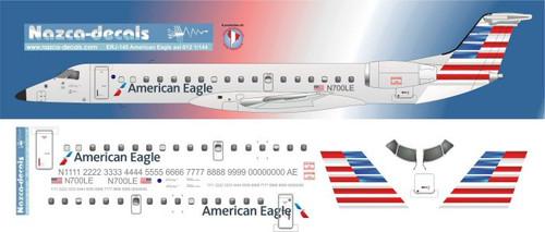 1/144 Scale Decal American Eagle ERJ-145