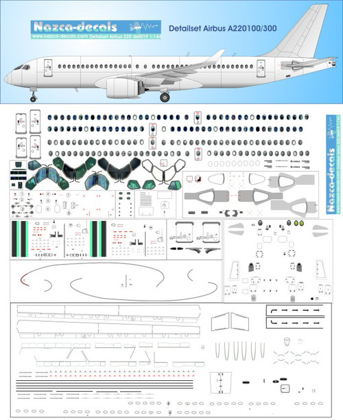 1/144 Scale Decal A-220 Detail Sheet