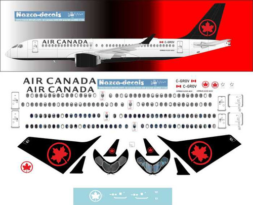 1/144 Scale Decal Air Canada A-220