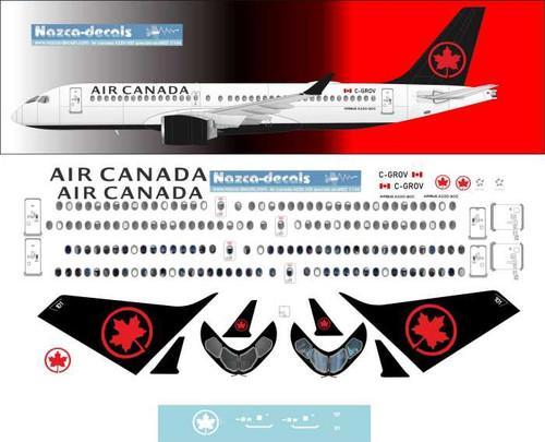 1/144 Scale Decal Air Canada A-220
