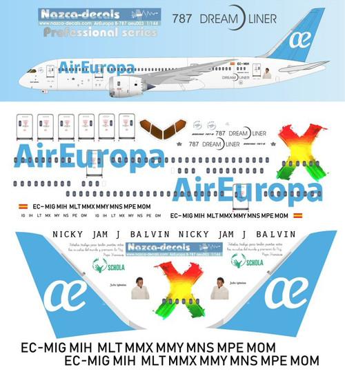1/144 Scale Decal Air Europa 787-8
