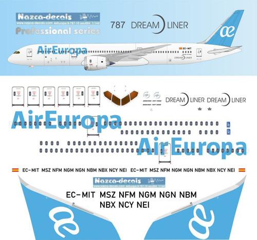 1/144 Scale Decal Air Europa 787-9