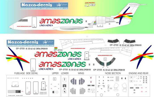 1/144 Scale Decal Amaszonas CRJ-200