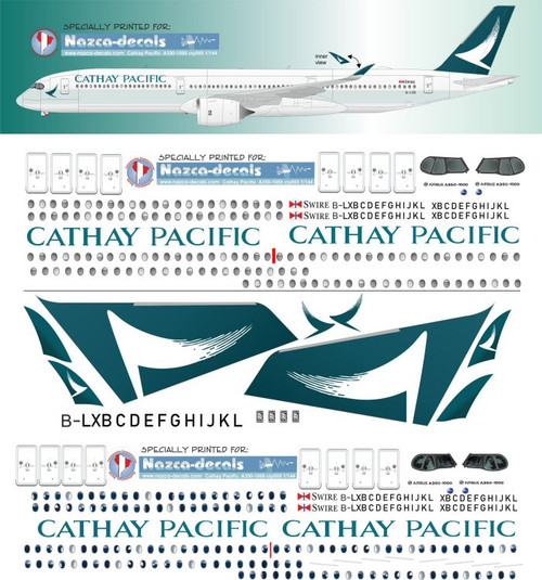 1/144 Scale Decal Cathay Pacific A-350-1000