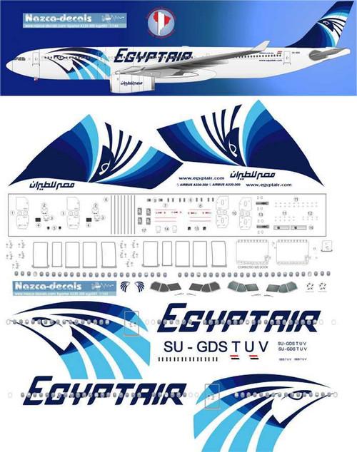 1/144 Scale Decal Egyptair A-330-200