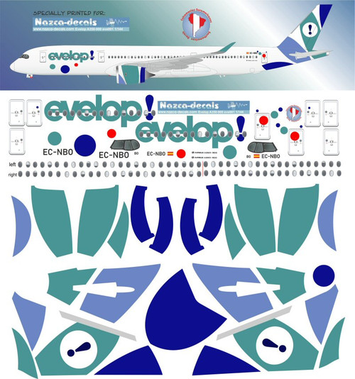 1/144 Scale Decal Evlope! A-350-900