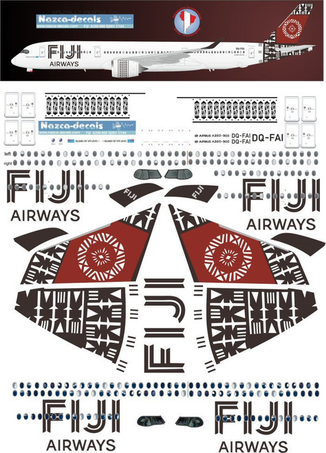 1/144 Scale Decal Fiji Airways A-350-900