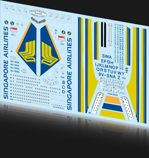 1/144 Scale Decal Singapore 777-300ER