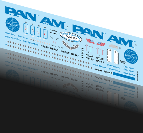 1/144 Scale Decal Pan Am 737 BILLBOARD