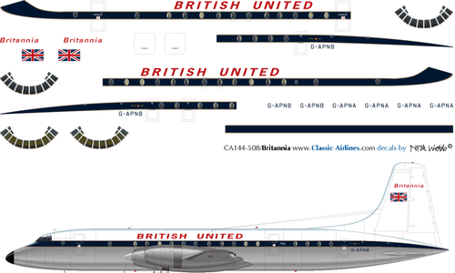 1/144 Scale Decal British United Britannia