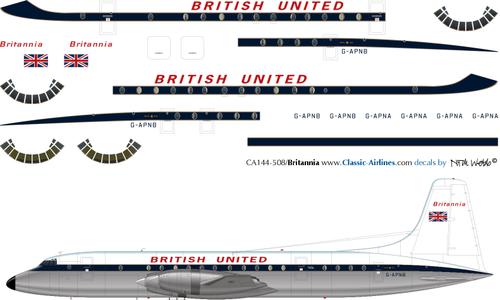 1/144 Scale Decal British United Britannia