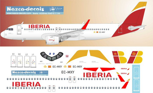 1/144 Scale Decal Iberia A-320 NEO
