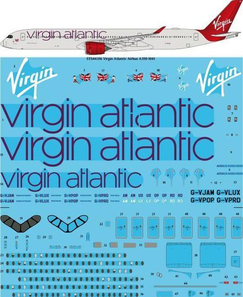 1/144 Scale Decal Virgin Atlantic Airbus A350-1041