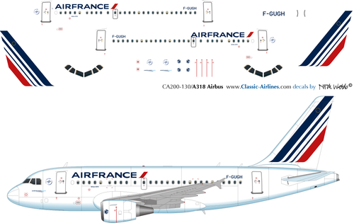1/200 Scale Decal Air France A-318