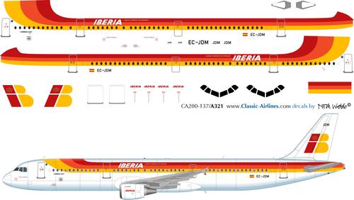 1/200 Scale Decal Iberia A-321