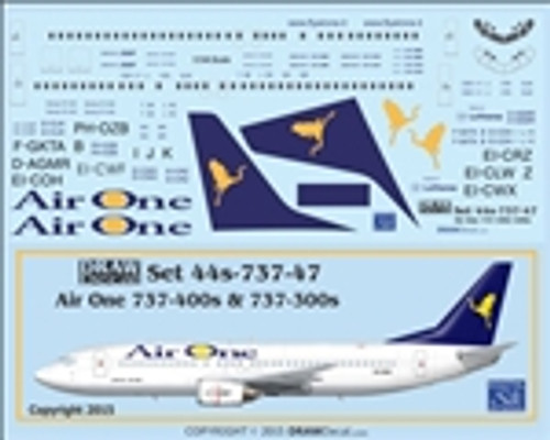 1/144 Scale Decal Air One 737-300 / 400