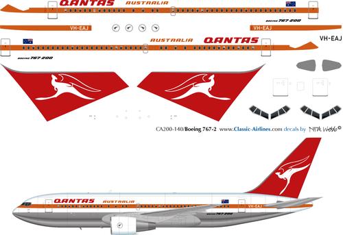 1/200 Scale Decal Qantas 767-200